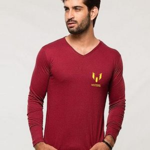 Maroon Messi Logo T Shirt mw441