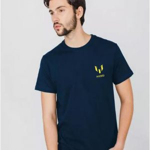 Navy Blue Messi Logo T Shirt For Him mw396
