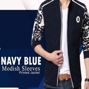 Navy Blue Modish Jacket For Him mw34