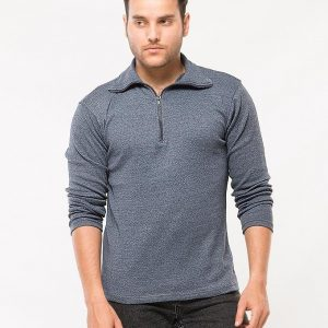 Navy Blue Navy Blue Navy Blue Mock Neck Stretchable mw31