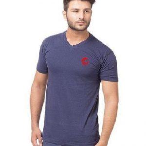 Navy Blue V Neck Thunder Cat logo T-Shirt mw45