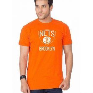 Orange Brooklyn Printed T shirt For him mw46