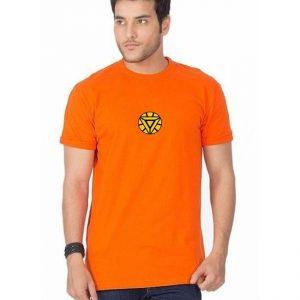 Orange Iron Man Printed T shirt For Him mw442