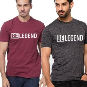 Pack of 02 Be Legend Printed T shirts For Him mw404