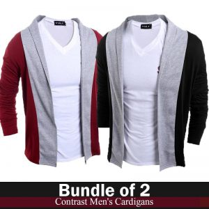 Pack Of 2 Contrast Cardigans For Him mw50