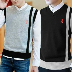 Pack of 2 V-neck Sleeveless Sweater For Men mw3