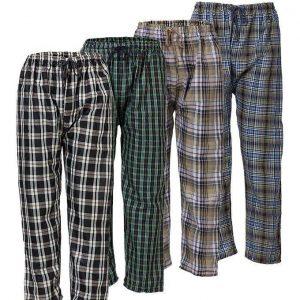 Pack of 4 - MultiColor Cotton Comfortable Checkerd Pajamas For Men mw94