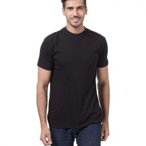 Pack Of 5 - Black Cotton Plain Tshirts For Men mw392