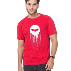 Red Batman Printed T Shirt For Him mw87