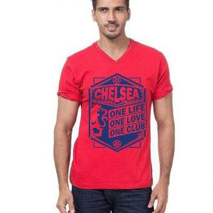 Red Chelsea Printed T shirt For Him mw34