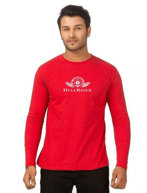 Red Hell Rider Printed T Shirt For Him mw406