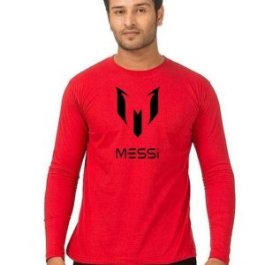 Red Messi Printed T Shirt For Him mw394