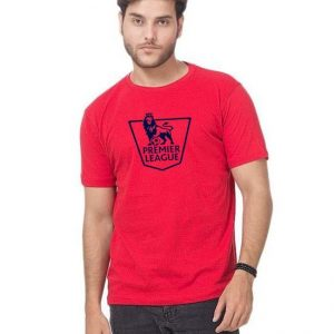 Red Premier League Printed T shirt For Him mw393