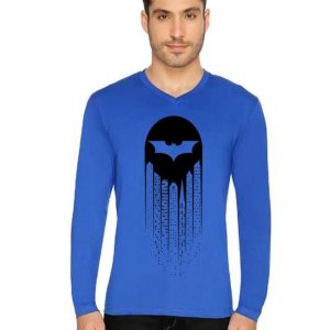 Royal Blue BatMen Printed T Shirt For Him mw407