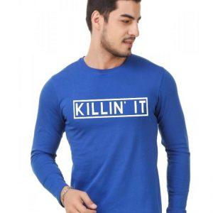 Royal Blue Killin it Full Sleeves T shirt For Him mw457