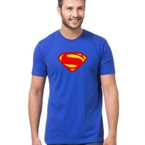 Royal Blue Superman Printed T shirt For Him mw96