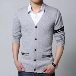Sleeves & Pocket Strip Design Sweater For Men mw35