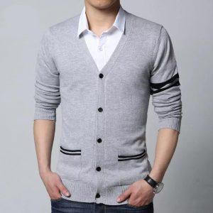 Sleeves & Pocket Strip Design Sweater For Men mw35