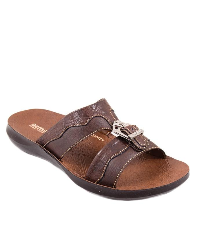 87c9f39f9 Soft Brown Synthetic Leather Sandals For Men P4203-SOFT BROWN mw64 ...