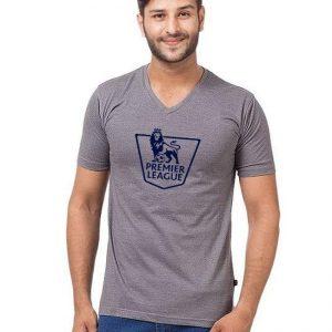 Steel Grey Premier League Printed T shirt For Him mw459