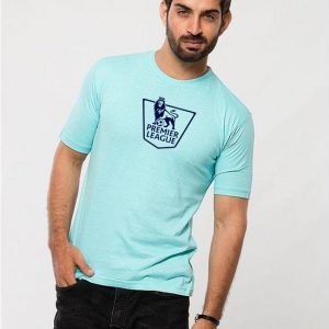 Turquoise Premier League Printed T shirt For Him mw446