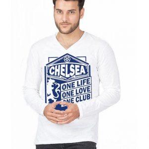 White Chelsea Club Printed T shirt For Him mw49