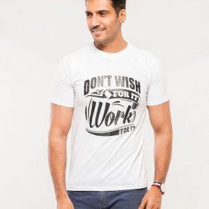 White Cotton Dont Wish Graphics Tshirt mw398