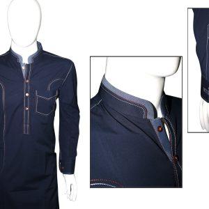 Ash clothing SK012 Blue jump stich design shalwar kameez
