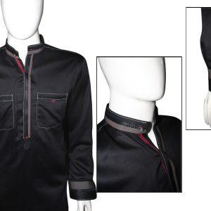 Ash clothing SK013 Black double pocket design shalwar kameez