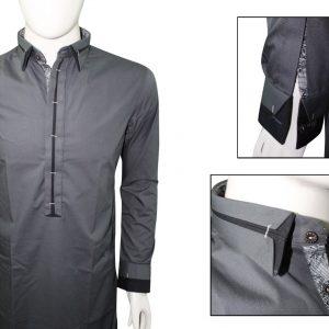 Ash clothing SK020 Dark grey button take design shalwar kameez