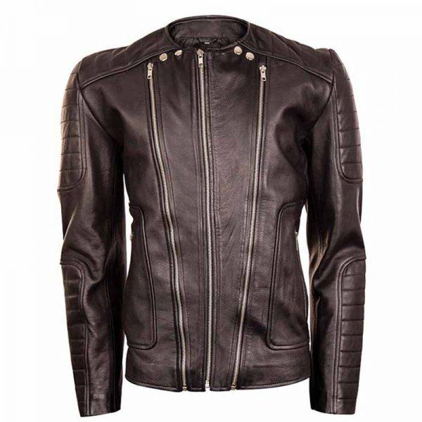 Bikers Black Wrapper Jacket By 850 Grams