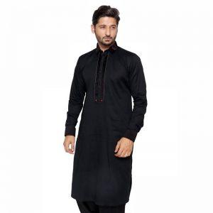 Edge - Black CHK Box Kurta Shalwar