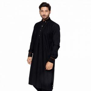 Edge - Black Top Design Kurta Shalwar