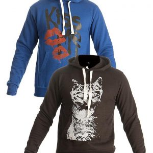 Mardaz Pack of 2 - Black & Blue Fleece Hoodies For Men mw2