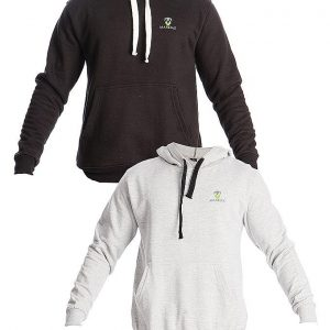 Mardaz Pack of 2 - Black & Grey Fleece Hoodies For Men mw34