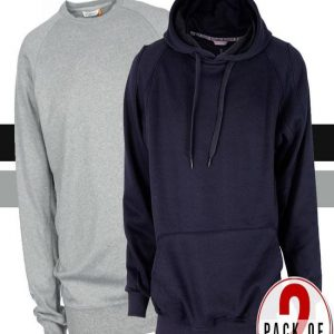 Mardaz Pack Of 2 Hoodies And Sweatshirt For Mens mw39