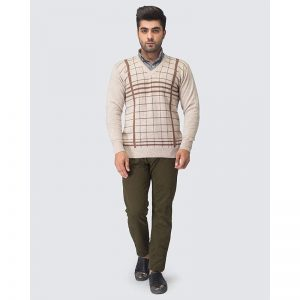 Oxford Beige Pullover Sweater -101