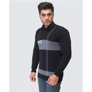 Oxford Black Pullover Sweater -069