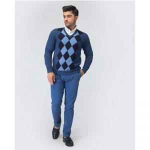 Oxford Blue Pullover Sweater -029