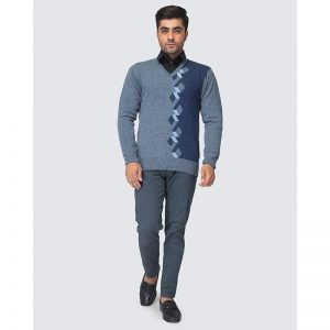 Oxford Blue Pullover Sweater -085