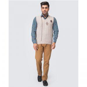 Oxford Viso Sleeve Less Sweater -028