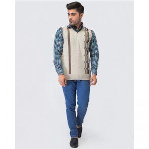 Oxford Viso Sleeve Less Sweater -064
