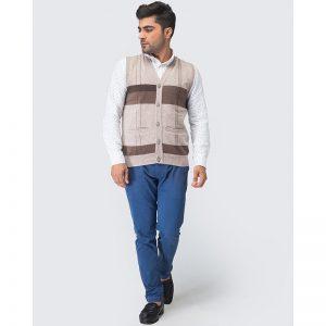 Oxford Viso Sleeve Less Sweater -080
