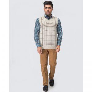 Oxford Viso Sleeve Less Sweater -108