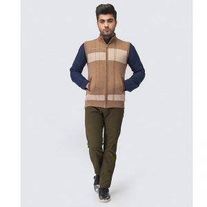 Oxford Zip Savana Sleeve Less Sweater -083