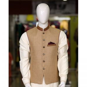 Peter Sham - Exclusive Jute Waist Coat Waist Coat PSW-001 Light brown