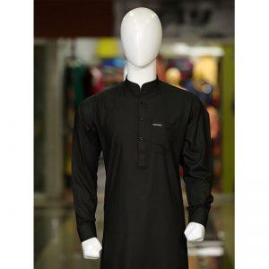 Peter Sham - HS Black Shalwar Kameez PS-005 Black
