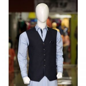 Peter Sham - Suiting with Pipen Waist Coat Waist Coat PSW-007 Navy Blue