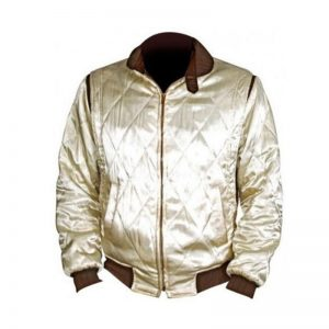 White Premium Satin Regular Fit Jacket Scorpion Men Bomber Class By Cavalry