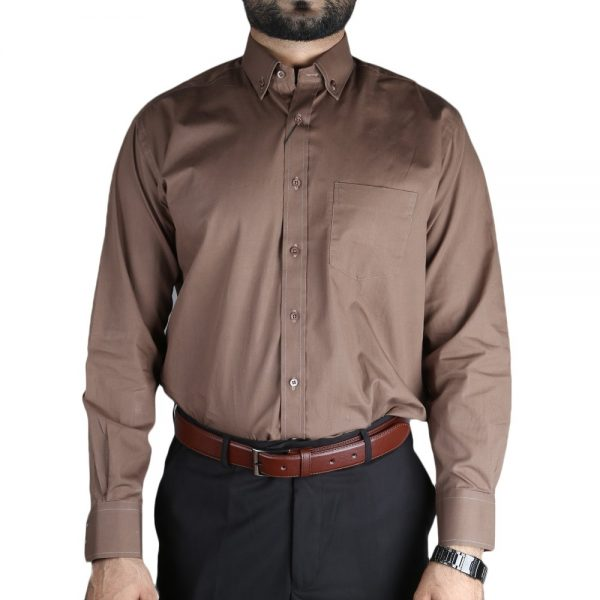 Men's Formal Shirt - Brown